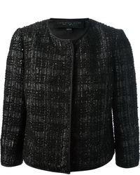 Giacca di tweed nera