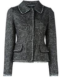 Giacca di tweed nera di Dolce & Gabbana