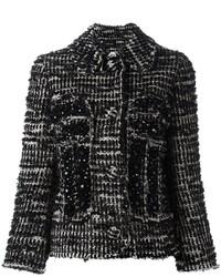 Giacca di tweed nera di Simone Rocha