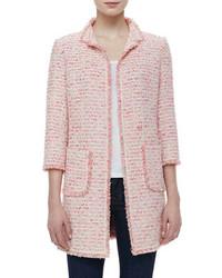 Giacca di tweed rosa