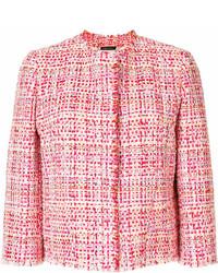Giacca di tweed rossa di Alexander McQueen