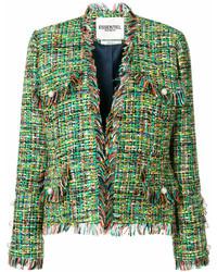 Giacca di tweed verde