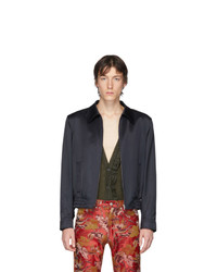 Giacca harrington blu scuro di Dries Van Noten