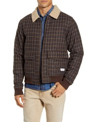 Giacca harrington marrone scuro