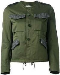 Giacca militare verde scuro