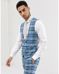 Gilet a quadri azzurro di Twisted Tailor