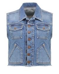 Gilet di jeans azzurro di Pepe Jeans
