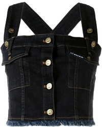 Gilet di jeans blu scuro di House of Holland