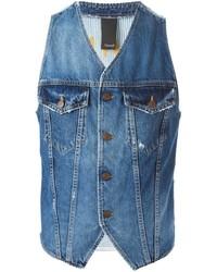 Moda Gilet Da Di Jeans Uomo qwZ66F8I