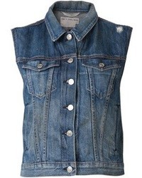 Gilet di jeans blu di Rag and Bone