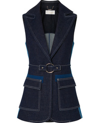 Gilet di jeans decorato blu scuro di Chloé