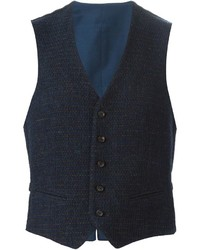 Gilet di lana blu scuro