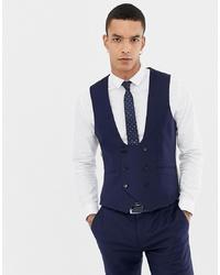 Gilet di lana blu scuro di Twisted Tailor