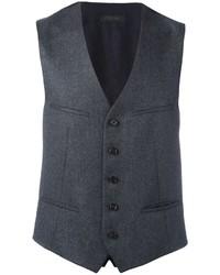 Gilet di lana grigio scuro