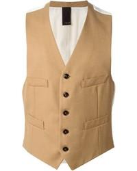 Gilet di lana marrone chiaro