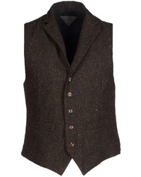 Gilet di lana marrone scuro