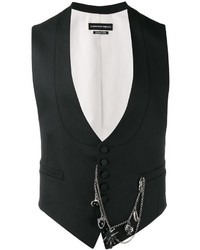 Gilet di lana nero di Alexander McQueen