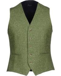 Gilet di lana verde oliva