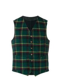 Gilet di lana verde scuro