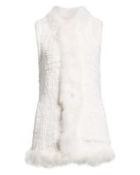 Gilet di pelliccia bianco