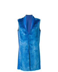Gilet di pelliccia blu di Liska