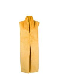 Gilet di pelliccia giallo di Liska