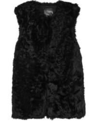 Gilet di pelliccia nero