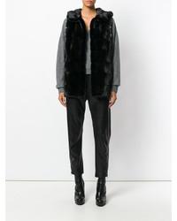 ... Gilet di pelliccia nero di Yves Salomon ... e6f0266d0dc