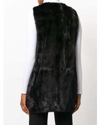 ... Gilet di pelliccia nero di Yves Salomon a240d815465