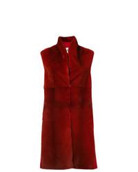 Gilet di pelliccia rosso di Manzoni 24