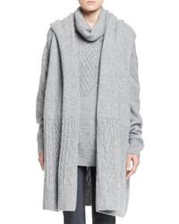 Gilet lavorato a maglia grigio