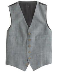 Gilet scozzese grigio