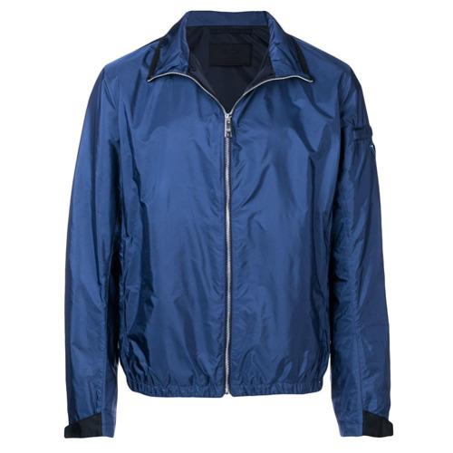 huge discount 7b27c fcb99 €1,087, Giubbotto bomber blu di Prada