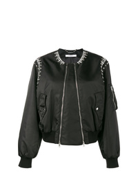 Giubbotto bomber decorato nero di Givenchy