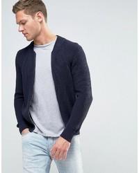 giacca da uomo sisley blu scuro fatta di maglina