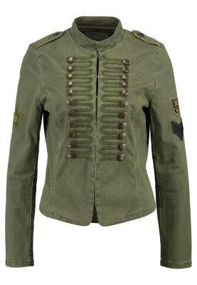 Giubbotto bomber di jeans verde oliva di Only