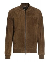 Giubbotto bomber in pelle marrone di Club Monaco