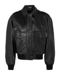 Giubbotto bomber in pelle nero di Givenchy