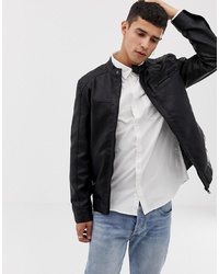 Giubbotto bomber in pelle nero di ONLY & SONS