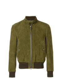 best deals on 8e570 09092 Giubbotti bomber in pelle scamosciata verde oliva da uomo ...