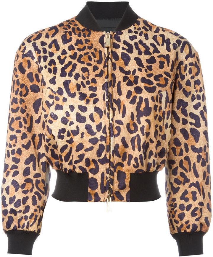 giacca dsquared leopardata donna