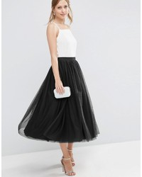 Gonna a ruota in tulle nera di Asos