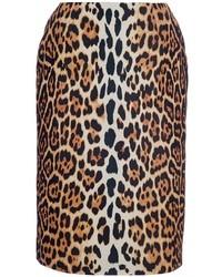 Gonna tubino leopardata