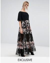 comprare on line 3a2cd 3faaa Gonne lunghe a fiori nere da donna | Moda donna | Lookastic