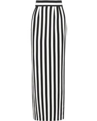 half off a8400 1d814 Gonne lunghe a righe verticali bianche e nere da donna ...