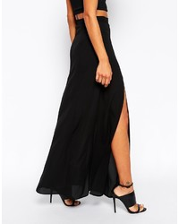new style 3dc11 a4659 Gonna lunga con spacco nera di Asos, €57 | Asos | Lookastic