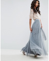 pretty nice 11c86 3697f Gonne lunghe in tulle azzurre da donna | Moda donna | Lookastic