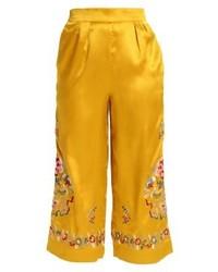 Gonna pantalone a fiori gialla di Topshop