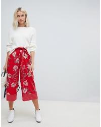 Gonna pantalone a fiori rossa di Influence
