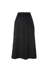 Gonna pantalone a righe verticali nera e bianca